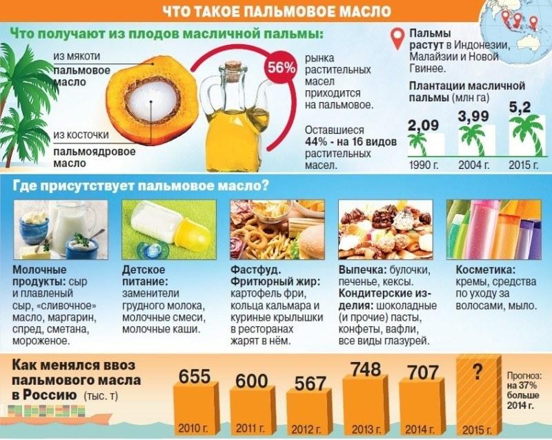 Инфографика: пальмовое масло