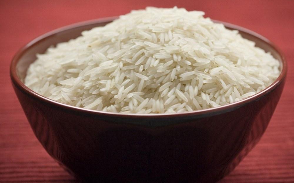 Вареный рис после чистки