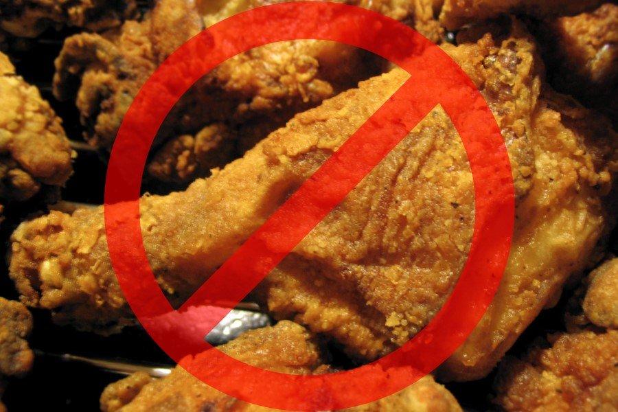 Запрет жирной пищи