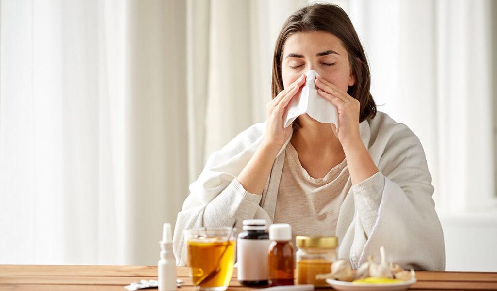 Простудное заболевание инфекционного характера в острый период