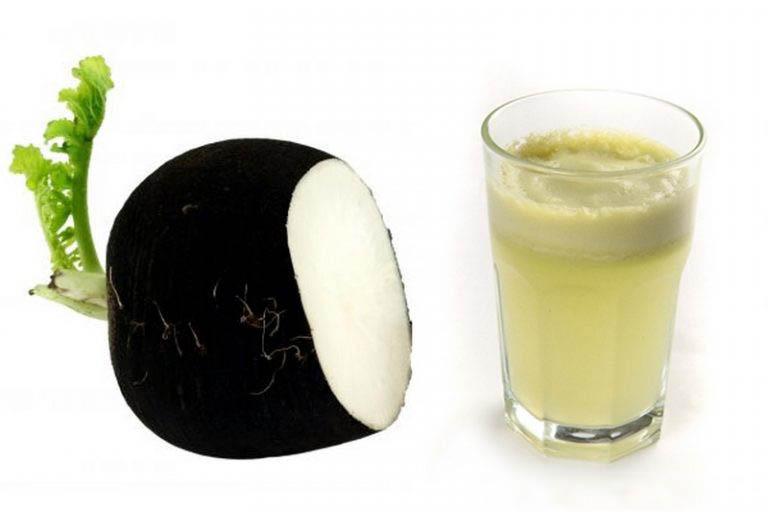 Сок из черной редьки